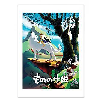 Arte-Cartel - Princesa Mononoke - Joshua Budich 50 x 70 cm