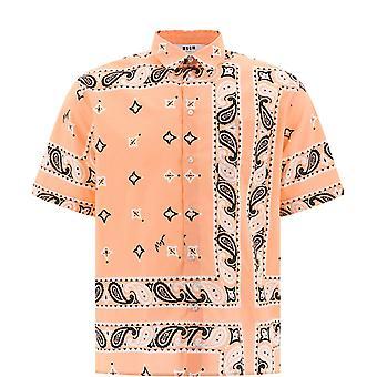 Msgm 2840me17a20705411 Männer's Multicolor Baumwollhemd