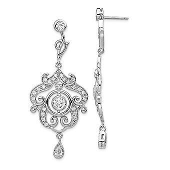 925 Sterling Silver Rhodium plaqué CZ Cubic Zirconia Simulated Diamond Chandelier Dangle Post Jewelry Cadeaux pour