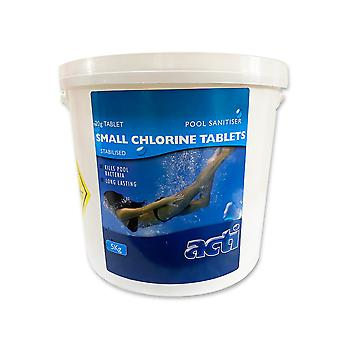 acti spa 20g small chlorine tablets 5kg - 250 tablets for swimming pools