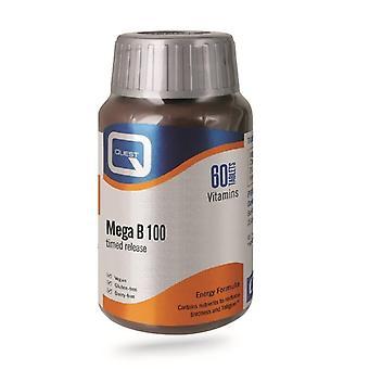 Quest vitaminer Mega B-100 tidsinställda release flikar 60 (601220)
