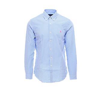 Ralph Lauren 710795424004 Mænd's Lyseblå bomuldsskjorte
