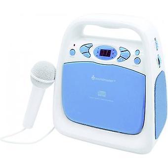 soundmaster KCD 50 Kids cd-speler AUX, CD, FM, USB Incl. karaoke functie, Incl. microfoon Blauw
