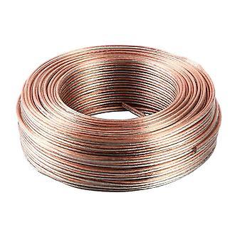 Jandei Şeffaf paralel kablo, 2 tel bölüm 1.5mm, hoparlörler, LED, güç kaynağı 12V 24V bobin 100 metre, pozitif ve negatif işaretleme