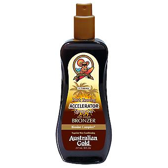 Australian Gold Dark Tanning Accelerator Spray Gel with Bronzer 237 ml