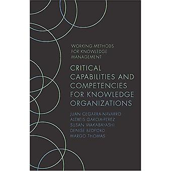 Critical Capabilities and Competencies for Knowledge Organizations by