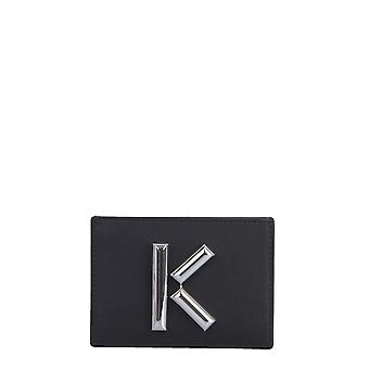 Kenzo Fa52pm300l2099 Women's Black Leather Card Holder