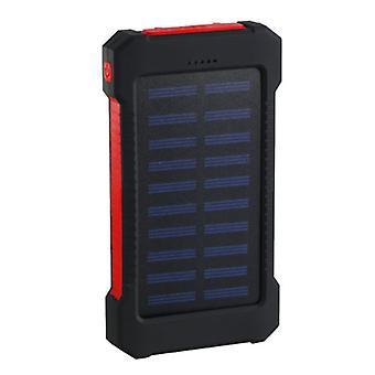Ting sertifisert® 30.000mAh solar lader ekstern makt Bank nødsituasjon solenergi batterilader batteri rød