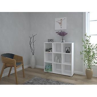 Bibliothek London S Farbe weiß in Melamin Spanplatten, Kunststoff, Eisen 106x33x109 cm