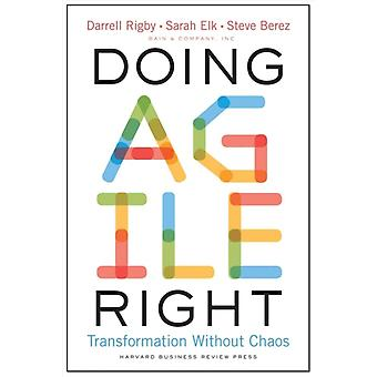 Doing Agile Right  Transformation Without Chaos by Darrell Rigby & Sarah Elk & Steven Berez