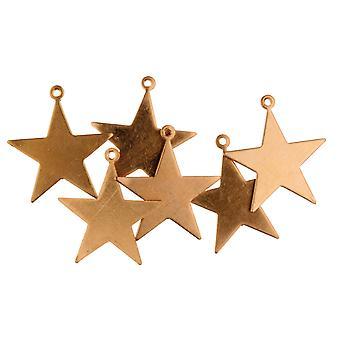 Koperen blanks Small Star Pack van 6 16,5 mm
