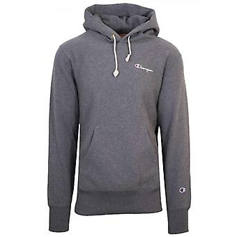 Champion Reverse Weave Dark Grey Hooded Sweatshirt