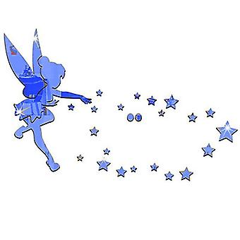 Angel & Stars Acrylic Diy Decorative Mirror 3d Wall Stickers