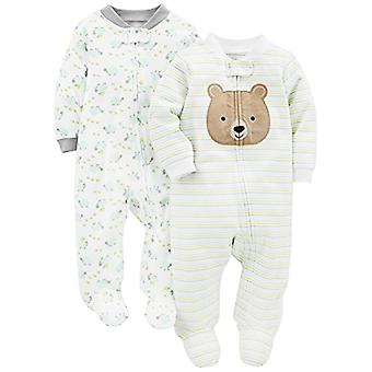 Simple Joys by Carter's Baby Neutral 2-Pack Cotton Footed Sleep and Play, Bea...