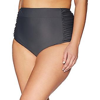 Brand - Coastal Blue Plus Size Bikini Bottom, Asphalt, 3X (24W-26W)