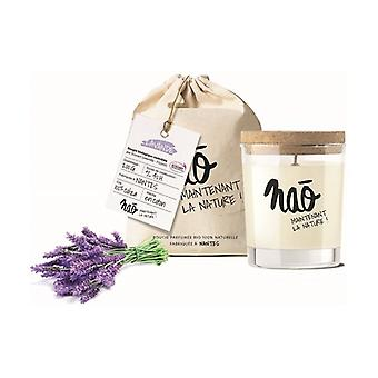Large natural lavender scented candle 40h 200 g