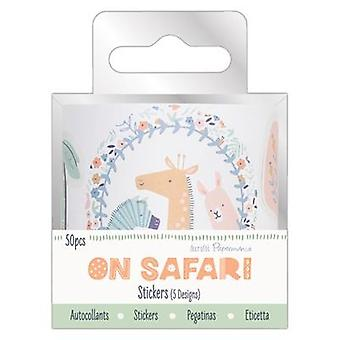 Papermania en Safari Sticker Roll (50pcs) (PMA 354037)