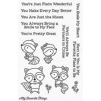 Meine Lieblings-Dinge Raving Waschbären Klare Briefmarken