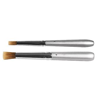 2 Stencil Brush Set for Stencilling Crafts - 5mm & 8mm