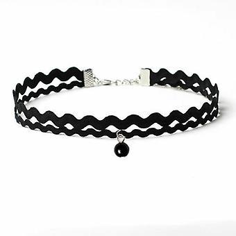 Black Double Lace Choker Necklace