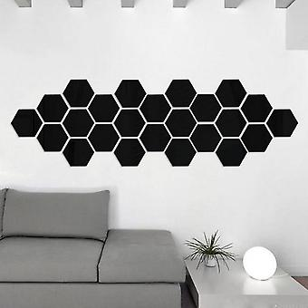 Autocollants 3d Hexagon Acrylique Mirror Wall Stickers, Art Wall Decor Stickers, Living Room