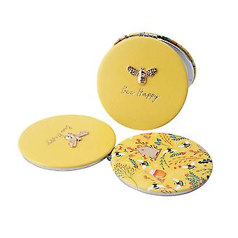 Bee Happy Compact Mirror - Boxed Gift