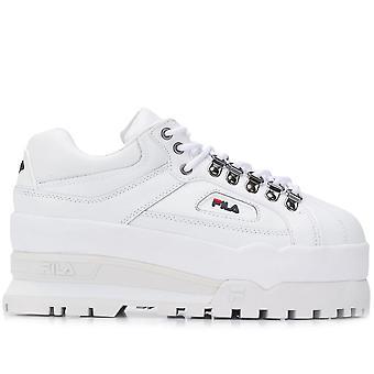 Fila Ezcr008008 Kvinder's Hvide Læder Sneakers