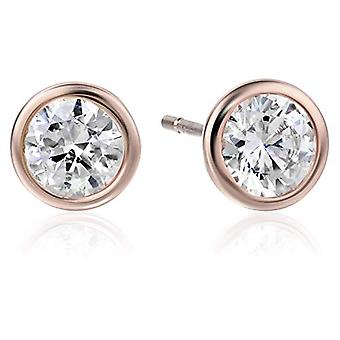Essentials Rose Gold Plated Sterling Silver AAA Cubic, Silver, Size 6.0