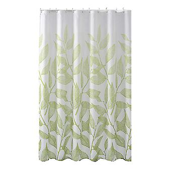 YANGFAN Nature Fresh Waterproof Green Leaves Shower Curtain
