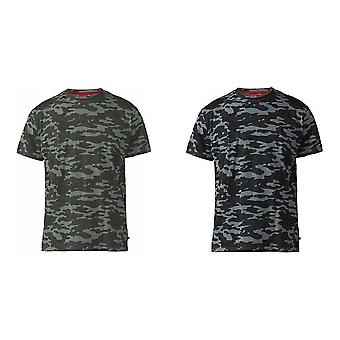 Duke Mens Gaston Kingsize Camouflage Print T-Shirt