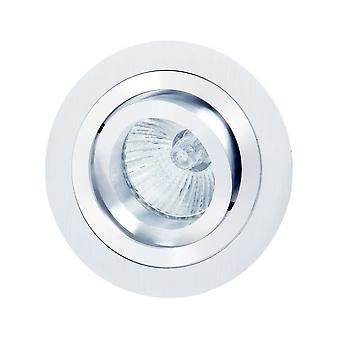 Kääntyvä upotettu downlight 9,2 cm pyöreä 1 x GU10 max 50W satiini nikkeli, kromi