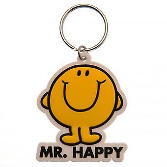 Mr Happy PVC Keyring