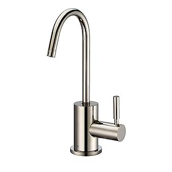 Point Of Use Cold Water Drinking Faucet With Gooseneck Swivel Spout  - Polished Nickel
