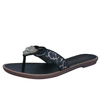 Grendha exotique Thong Womens Tongs / sandales - noir