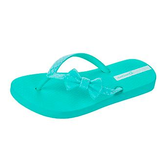 Ipanema Sparkle Bow Girls Strand Flip Flops / Sandalen - Mint
