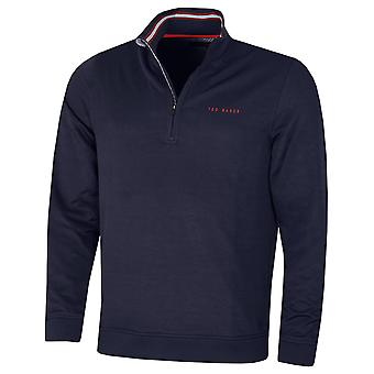 Ted Baker Mens Ryda Midlayer Comfort Stretch Quarter Zip Golf Sweater