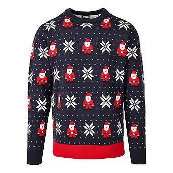 Urban Classics Herren Sweatshirt Nicolaus And Snowflakes