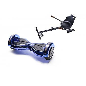 Package Smart Balance Hoverboard 6.5 Inch, Transformers Electroblue + Hoverseat, Motor 700 Wat, Led