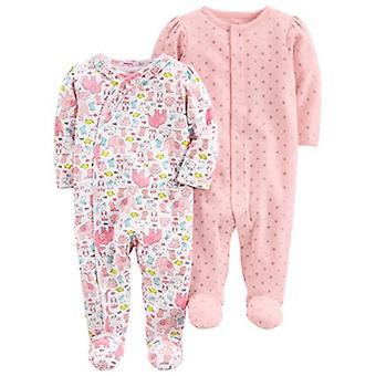 Semplice gioia di Carter's Baby Girls' 2-Pack Cotton Footed Sleep and Play, Anim...