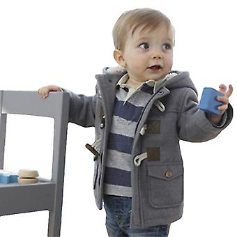 Autumn Winter Jacket For Baby Boys - Warm Wool Outerwear
