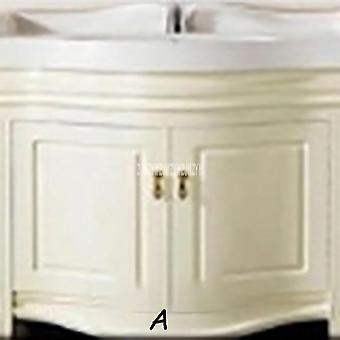 Bathroom Vanities Solid Wood Bathroom Cabinet Combination Wash Basin Cabinet Rubber Wood Vanity Cabinet With Double Basin