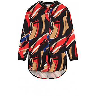 Sandwich Clothing Red Bold Print Tunic