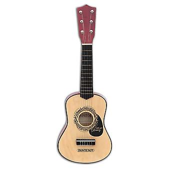 Bontempi Wooden Guitar 6 Strings Ages 5 Years+