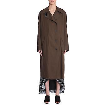 Haider Ackermann 1835102153035 Women's Green Cotton Trench Coat