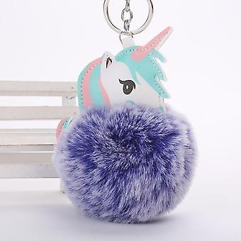 Keychain Unicornio Key, Hanger Suffed Animal Toy-Bag, Hanger Licorne Pluche