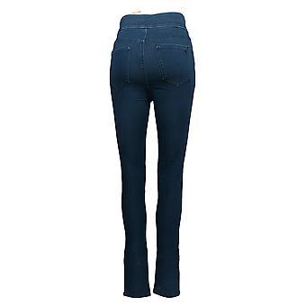 Martha Stewart Women's Jeans Slim Fit W/ Ankle Zipper Blue A351438