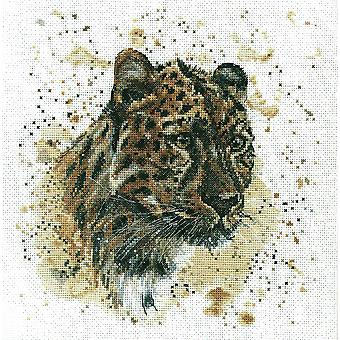 Bree Merryn Cross Stitch Kit - Layla The Leopard