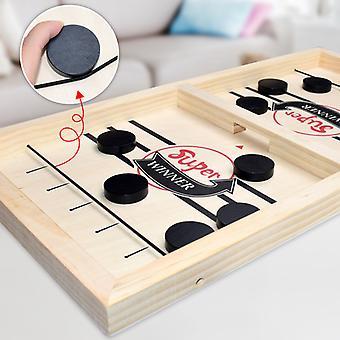 Foosball Vinnare Spel Bordshockey spel Katapult Chess Förälder-barn Interaktiv Leksak Snabb Sling Puck Brädspel Leksaker för barn