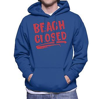Jaws Beach stängda män's Hooded Sweatshirt