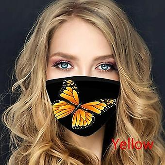 Ústne masky pre ochranu proti prachu tvár umývateľný nastaviteľný mäkký tlačený vzor